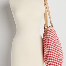 Red Gingham Tote Bag | Maurices