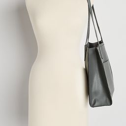 Gray Studded Tote Bag | Maurices