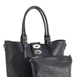 Triple Buckle Tote Handbag | Cato Fashions