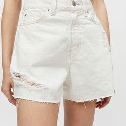 BDG A-Line Denim Cutoff Short – White Denim   Urban Outfitters (US and RoW)