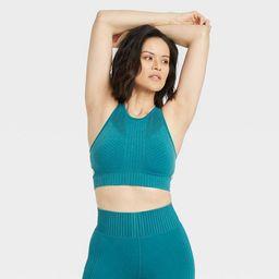 Women's Light Support High Neck Seamless Bra - All in Motion™   Target