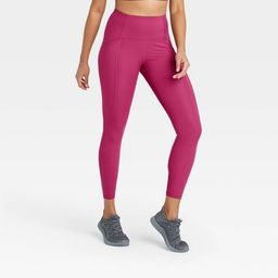 """Women's Sculpted Linear Laser Cut High-Waisted 7/8 Leggings 25"""" - All in Motion™   Target"""