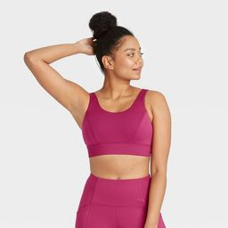 Women's Medium Support Soft Ribbed Bra - All in Motion™   Target