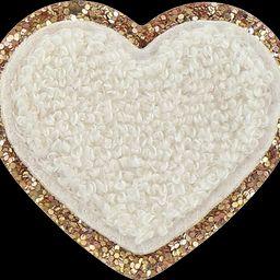 Blanc Glitter Heart Patch | Stoney Clover Lane