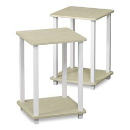 Furinno Furniture Simplistic Wooden Sturdy Square Flat Top Indoor Home Decor End Tables for Bedro... | Target
