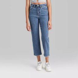 Women's Super-High Rise Straight Jeans - Wild Fable™ Medium Blue | Target