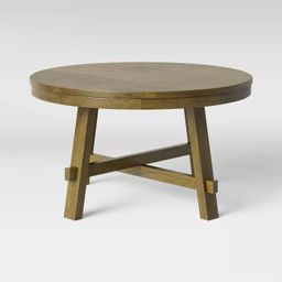 Edonton Round Wood Farmhouse Coffee Table Brown - Threshold™ | Target