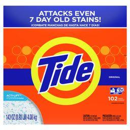Tide Original 102 Loads, Powder Laundry Detergent, 143 Oz | Walmart (US)