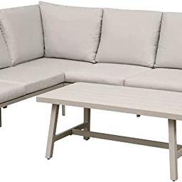 Dellonda Fusion 4 Piece Outdoor Corner Sofa Set | Amazon (UK)