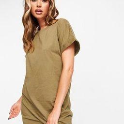 Brave Soul xena t-shirt dress in olive | ASOS (Global)