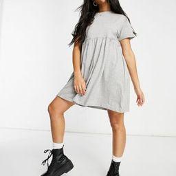 Brave Soul lara smock dress in gray | ASOS (Global)