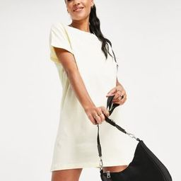 Brave Soul xena t-shirt dress in yellow | ASOS (Global)