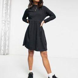 Brave Soul Petite lizzie high neck smock dress in black | ASOS (Global)