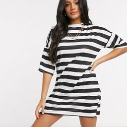 Street Collective oversized t-shirt dress in stripe | ASOS (Global)