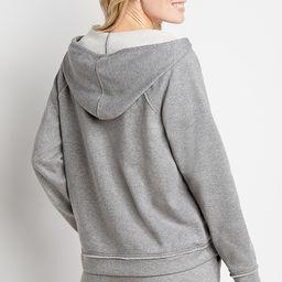 Heather Gray Zip Up Hoodie | Maurices
