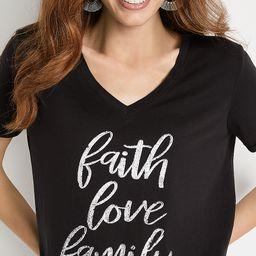 Black Faith Love Family Graphic Tee   Maurices