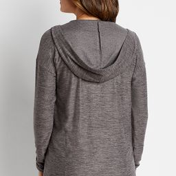Gray Hooded Lounge Cardigan   Maurices