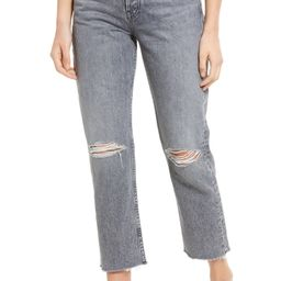 Maya Ripped High Waist Ankle Straight Leg Jeans | Nordstrom