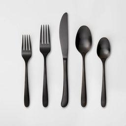 5pc Stainless Steel Kayden Silverware Set Matte Black - Threshold™ | Target