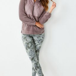 High Rise Mix Camo Full Length Luxe Legging   Maurices