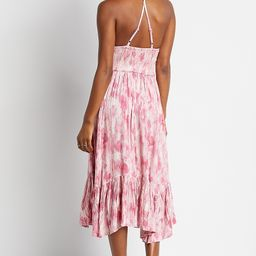 Pink Tie Dye Smocked Top Midi Dress | Maurices