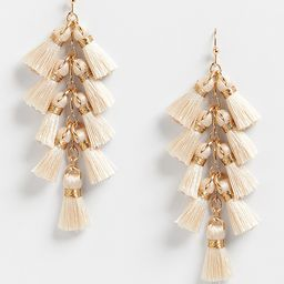 Gold Fringe Drop Earrings | Maurices