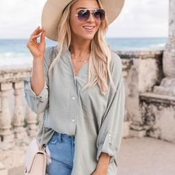 Lifetime Of Style Sage Blouse | The Pink Lily Boutique