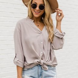Lifetime Of Style Taupe Blouse | The Pink Lily Boutique