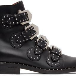 Black Elegant Studs Ankle Boots | SSENSE