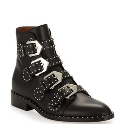 Givenchy Elegant Studded Leather Ankle Boots | Neiman Marcus
