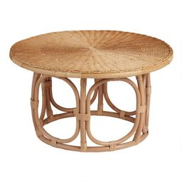 Round Natural Rattan Coffee Table | World Market