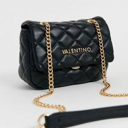 Valentino Bags Ocarina quilted cross body bag with chain strap in black | ASOS (Global)