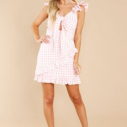 Sunny Surprise Pink Gingham Dress   Red Dress