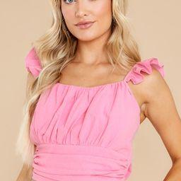 Stylish Ways Pink Crop Top   Red Dress