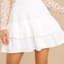 Simple Melody White Skirt   Red Dress