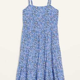 Sleeveless Tiered Floral-Print Swing Dress for Women | Old Navy (US)