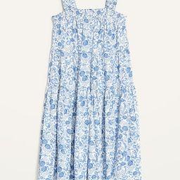 Sleeveless Smocked Floral Midi Swing Dress for Women | Old Navy (US)