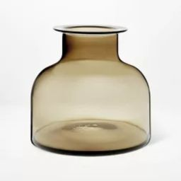 "9"" x 10"" Smoked Glass Vase - Threshold™ designed with Studio McGee   Target"
