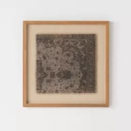 "18"" x 18"" Vintage Textile Framed Under Glass - Threshold™ designed with Studio McGee | Target"