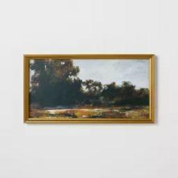 "13.9"" x 25.4"" Horizontal Landscape Framed Canvas - Threshold™ designed with Studio McGee | Target"
