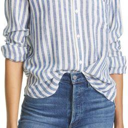 Charli Stripe Linen Blend Blouse   Nordstrom