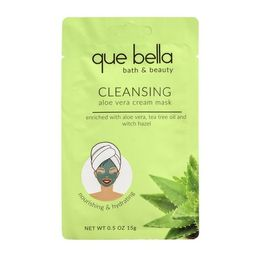 Que Bella Deep Cleansing Aloe Vera Cream Face Mask - 0.5oz   Target