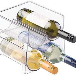 mDesign Plastic Free-Standing Wine Rack Storage Organizer for Kitchen Countertops, Table Top, Pan... | Amazon (US)