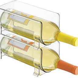 mDesign Plastic Free-Standing Water Bottle and Wine Rack Storage Organizer for Kitchen Countertop... | Amazon (US)