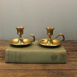 Set of Vintage Brass Candlesticks Holder/ Chambersticks | Etsy (CAD)