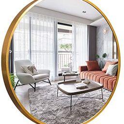 NeuType Round Mirror Metal Framed Wall-Mounted Mirror Hanging Mirror for Bathroom, Washroom, Bedr...   Amazon (US)