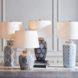 Langley Ceramic Pattern Lamp | Pottery Barn (US)