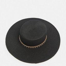 Chain Detail Straw Hat   Karen Millen UK & IE