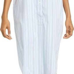 Stripe Long Sleeve Poplin Midi Shirtdress | Nordstrom