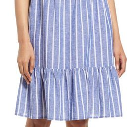 Saison Sleeveless Linen Blend Dress | Nordstrom